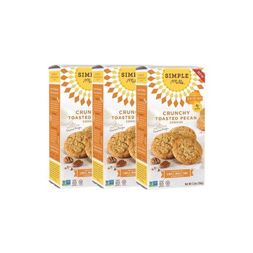 Simple Mills Naturally Gluten Free Crunchy Cookies, Toasted Pecan, 3 Count [Toasted Pecan]