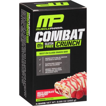 Muscle Pharm Combat Crunch White Chocolate Raspberry Baked Protein Bars, 4 count, 8.89 oz