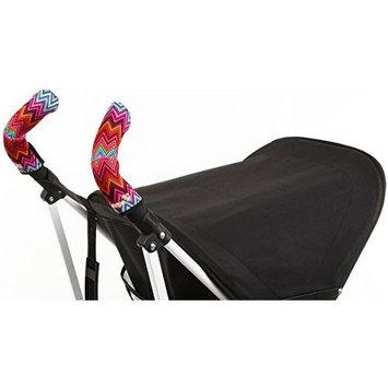 Choopie Stroller Grip Covers, Just Black, Double Bar