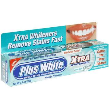 Plus White Xtra Whitening Toothpaste Gel Cool Mint 3.50 oz