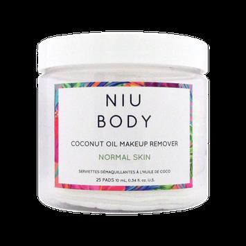 NIU BODY Makeup Remover Wipes, Normal Skin, 25 Ct