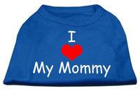 Ahi I Love My Mommy Screen Print Shirts Blue Lg (14)