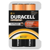 Duracell - CopperTop D Alkaline Batteries with recloseable package - long lasting, all-purpose D battery for household and business - 8 count [8]