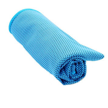 Microfiber Quick Dry Cooling Towel For Sports,Yoga, Athletes, Gym, Neck, Travel & Camping -Blue