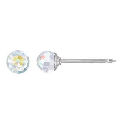 Home Ear Piercing Kit with a Stainless Steel 4MM Crystal Ball Earring