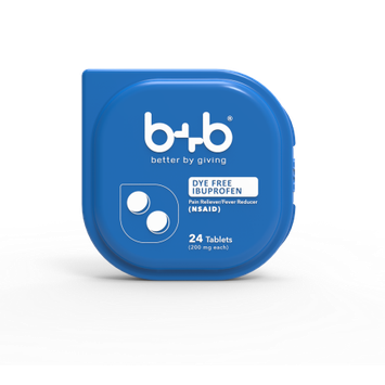 Bb b+b Dye-Free Ibuprofen Tablets, 24-Count
