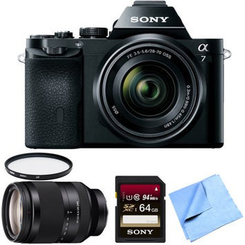 Sony a7K Full-Frame Mirrorless Camera with FE 28-70mm Lens 24-240mm Zoom Lens Bundle