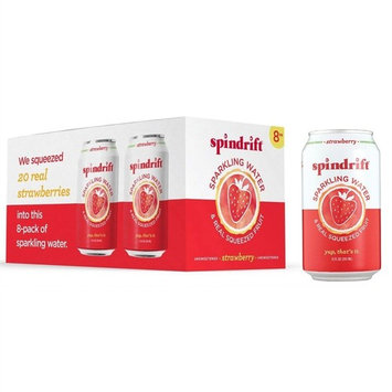 Spindrift Strawberry Sparkling Water, 12 Fl. Oz. Cans (Pack of 8)