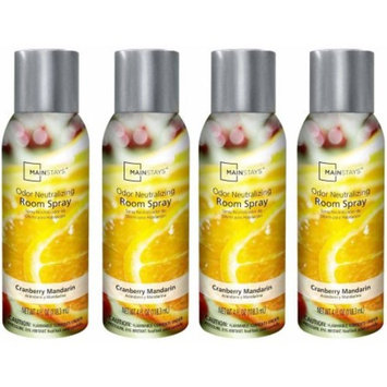 Mainstays 4 oz Room Spray, Cranberry Mango, Set of 4