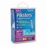 Piksters Interdental Brush Pack of 40 (Size 5 (Blue))