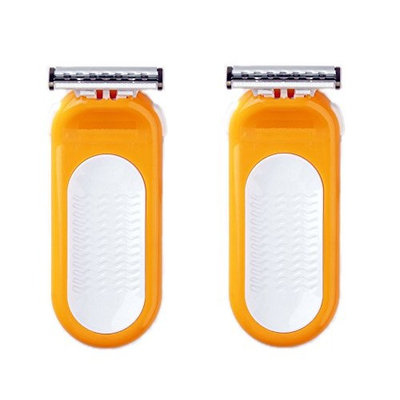 Compatible Razor fits with Sensor Excel for Women Refill Blade Cartridges (2 Pack) + FREE Travel Toothbrush, Color May Vary