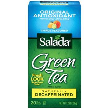Salada Redco Foods Salada Green Tea Decaf Antioxidant, 20 CT (Pack of 6)