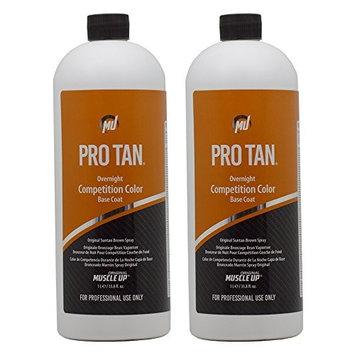 Pro Tan Overnight Competition Color Base Coat Original Suntan Brown Spray 33.8oz