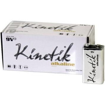Kinetik 53316 9-Volt Alkaline Batteries, 12-Pack