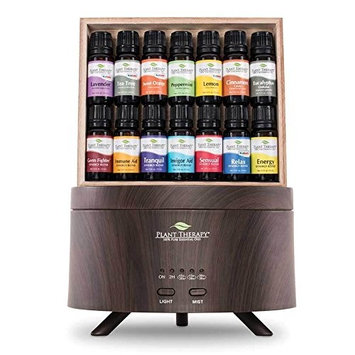 Plant Therapy 7 & 7 Wood Grain Aromafuse Gift Set