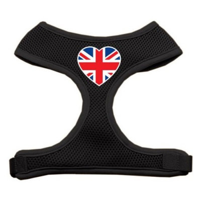 Heart Flag UK Screen Print Soft Mesh Harness Black Extra Large