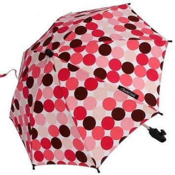ShadyBaby Pink-Brown Polka Dots Stroller Parasol, SPF 50+ Stroller Umbrella - 24