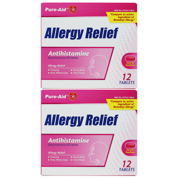 Pure-Aid Allergy Relief - 12 tablets (2 Pack)