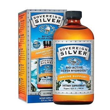Sovereign Silver Bio-Active Silver Hydrosol for Immune Support* - 32oz – The Ultimate Refinement of Colloidal Silver - Safe*, Pure and Effective* - Premium Silver Supplement - Family Size [Standard Packaging]