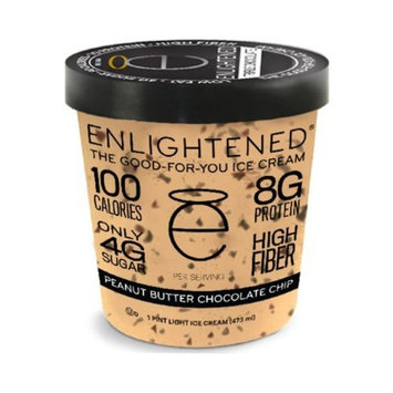 Enlightened - The Good For You Ice Cream, High Protein-Low Sugar-High Fiber-Low Fat, Peanut Butter Chocolate Chip, Pint (8 Count)