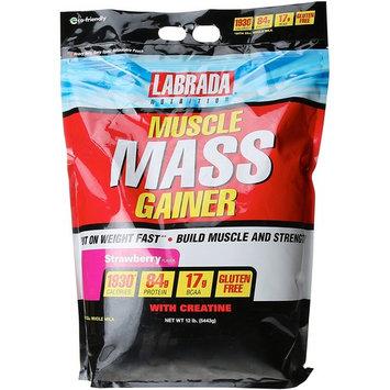 Labrada Nutrition Muscle Mass Gainer, Strawberry, 12 Pound [Strawberry]