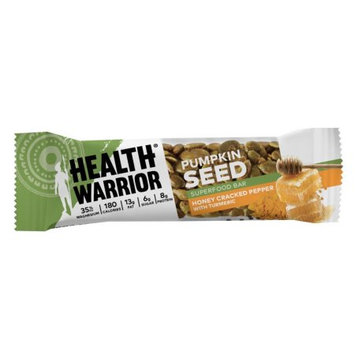 Health Warrior Pumpkin Seed Bars, Honey Cracked Pepper with Turmeric, 1.5 Oz, 12 Ct
