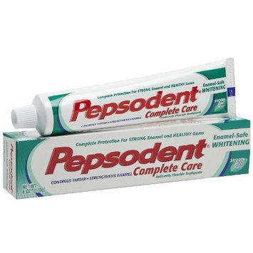 Pepsodent Complete Care Toothpaste, Enamel-safe Whitening, Smooth Mint, 6 Oz (Pack of 6)