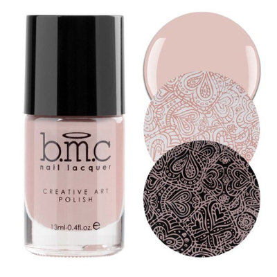 BMC Snowflake Waltz Collection: Ballet Flats - Nude Pink Cream Creative Art Stamping Polish