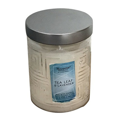 Tea Leaf & Lavender soy wax candle, in glass jar with lid