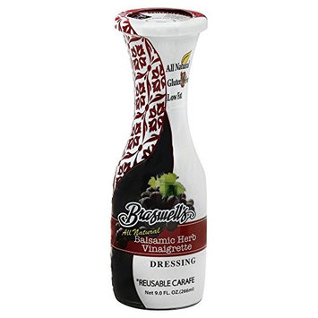 Braswell Carafe Dressing, Balsamic Herb, All Natural 9 Oz