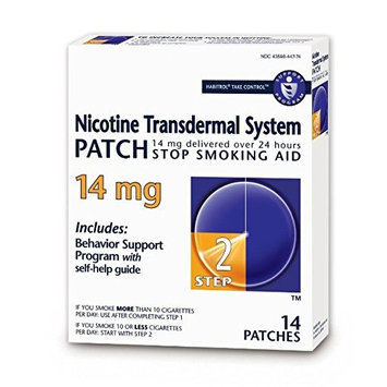Habitrol Nicotine Transdermal System Stop Smoking Aid, Step 2 (14 mg), 14 Patches Pack of 2