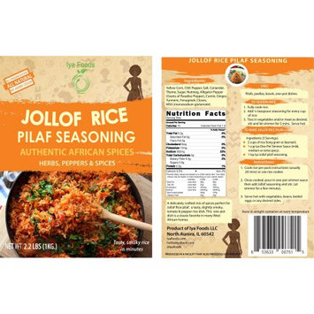 Iya Foods Llc Jollof Rice Pilaf Seasoning â 2.2 LBS