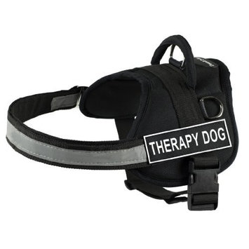DT Works Harness, Therapy Dog, Black/White