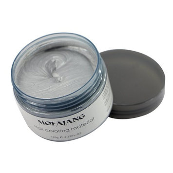 Mofajang Hair Wax Color Styling Cream Mud, Hairstyle Dye Pomade, Temporary, Gray