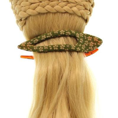 Annie Loto Sudios Jewelry Green Arch Clip Medium Hair Accessory Style, 1.00 in. - 374A