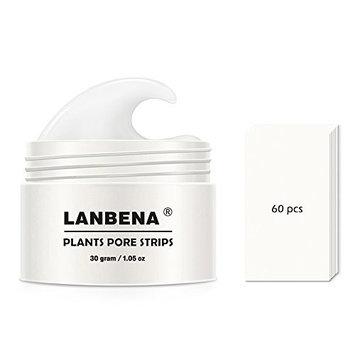 LANBENA Blackhead Remover Nose Mask Purifying Peel Off Mask Pore Strip Black Mask Peeling Acne Treatment Deep Cleansing 30g White.(1.05 Ounce)