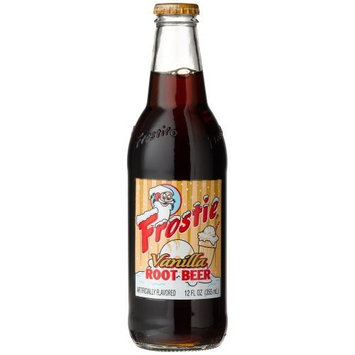 Frostie VANILLA ROOT BEER -So creamy you may just Float away!, 12-Ounce Glass Bottle (Pack of 12)