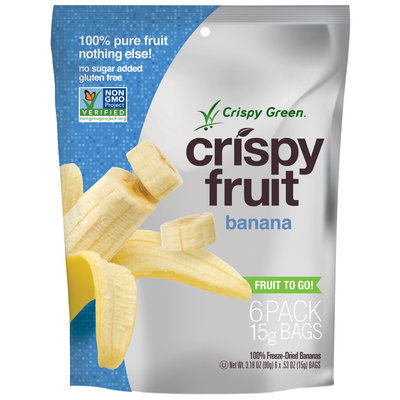 Crispy Green Crispy Fruit 100% Freeze Dried Banana