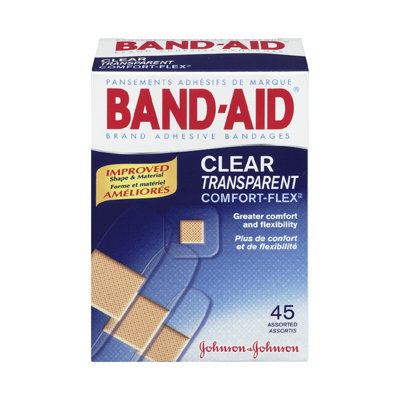 Band-Aid Clear Transparent Comfort-Flex Adhesive Bandages
