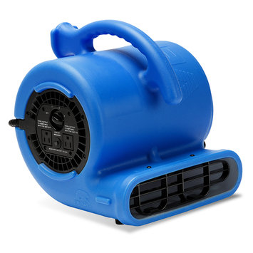 B-Air VP-25 900 CFM 1/4-HP 115-Volt 60-Hz 3-Speed Compact Air Mover, Blue