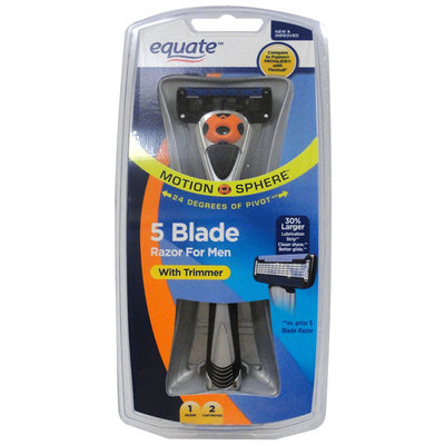 Equate Motion Sphere Men's Razor with 2 Cartridges