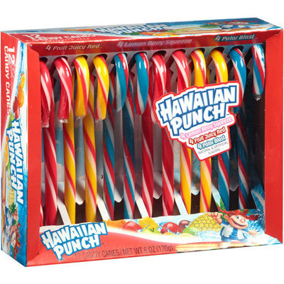 Generic Hawaiian Punch Assorted Flavors Candy Canes Holiday Gift, 12 count, 6 oz