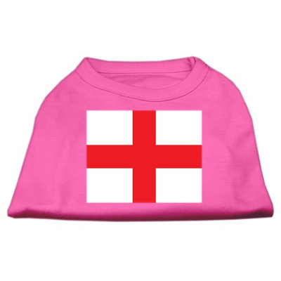 Mirage Pet Products 5152 XLBPK St. Georges Cross English Flag Screen Print Shirt Bright Pink XL 16