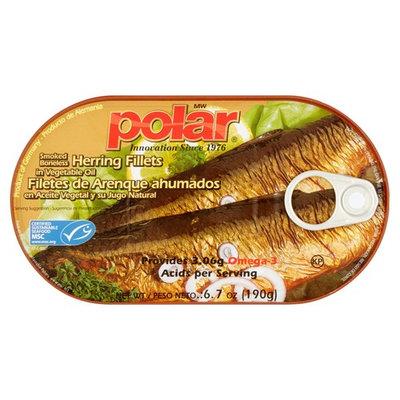 MW Polar Smoked Boneless Herring Fillets in Vegetable Oil, 6.7 oz (3 Packs)