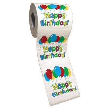 BigMouth Inc Happy Birthday Toilet Paper, Novelty Printed Toilet Tissue [Happy Birthday]