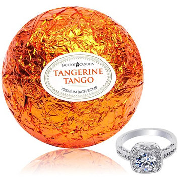Bath Bomb with Size 7 Ring Inside Tangerine Tango Extra Large 10 oz. Made in USA