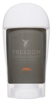 Freedom All Natural Deodorant Aluminum Free Odor Protection Tested & Loved by Cancer Survivors, Busy Execs, Military Personnel, Athletes, Healthy Moms & Kids - Amber 1.7oz