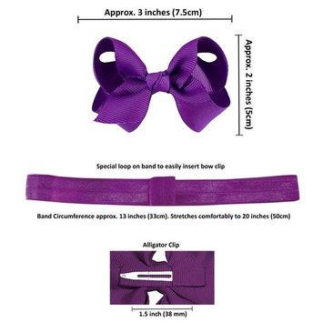 Zelda Matilda 10 Piece Boutique Bow Clips - Plus Interchangeable Headband Set