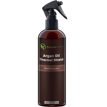 Argan Oil Hair Protector Spray - Thermal Heat Protectant For Styling Treatment Against Flat Iron & Hot Blow Dry - 100% Natural Prevents Damage Dryness Breakage & Split Ends Premium Nature