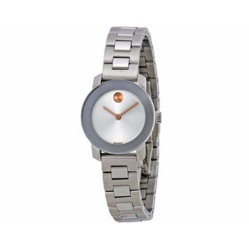 Stainless Steel and Silver Tone Sunray Dial Watch, 25mm